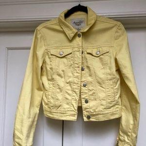 American Rag Yellow Denim Jacket, size small